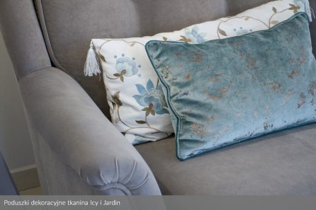 Usługa szycia poduszek dekoracyjnych na wymiar tkanina Icy i Jardin 2