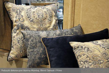 Usługa szycia poduszek dekoracyjnych na wymiar tkanina Mumbaj, Blend Damask i Prime