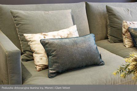 Usługa szycia poduszek dekoracyjnych na wymiar tkanina Rime, Monet i Glam Velvet 1