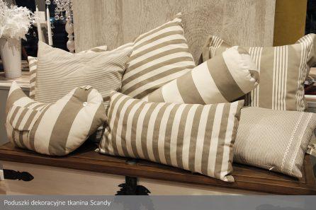 Usługa szycia poduszek dekoracyjnych na wymiar tkanina Scandy