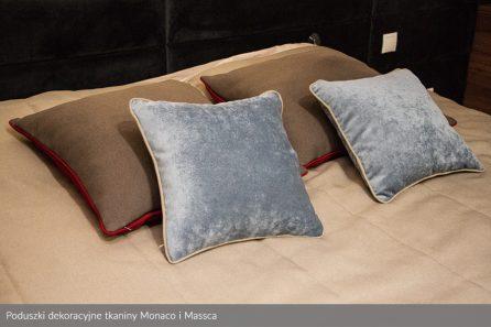 Usługa szycia poduszek dekoracyjnych na wymiar tkanina Monaco i Massca 1