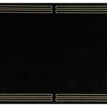 Dywan łatwoczyszczący Royal Black z kolekcji Art Deco Fargotex. Dywan do salonu i sypialni w stylu nowoczesnym i modern classic.