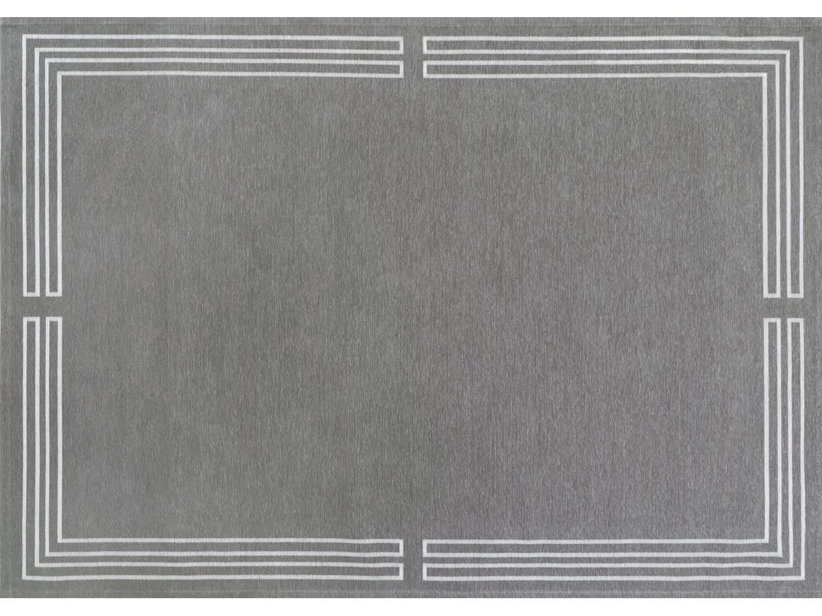 Dywan łatwoczyszczący Royal Grey z kolekcji Art Deco Fargotex. Dywan do salonu i sypialni w stylu nowoczesnym i modern classic.
