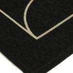 Dywan łatwoczyszczący Signet Black z kolekcji Art Deco Fargotex. Dywan do salonu i sypialni w stylu nowoczesnym i modern classic.
