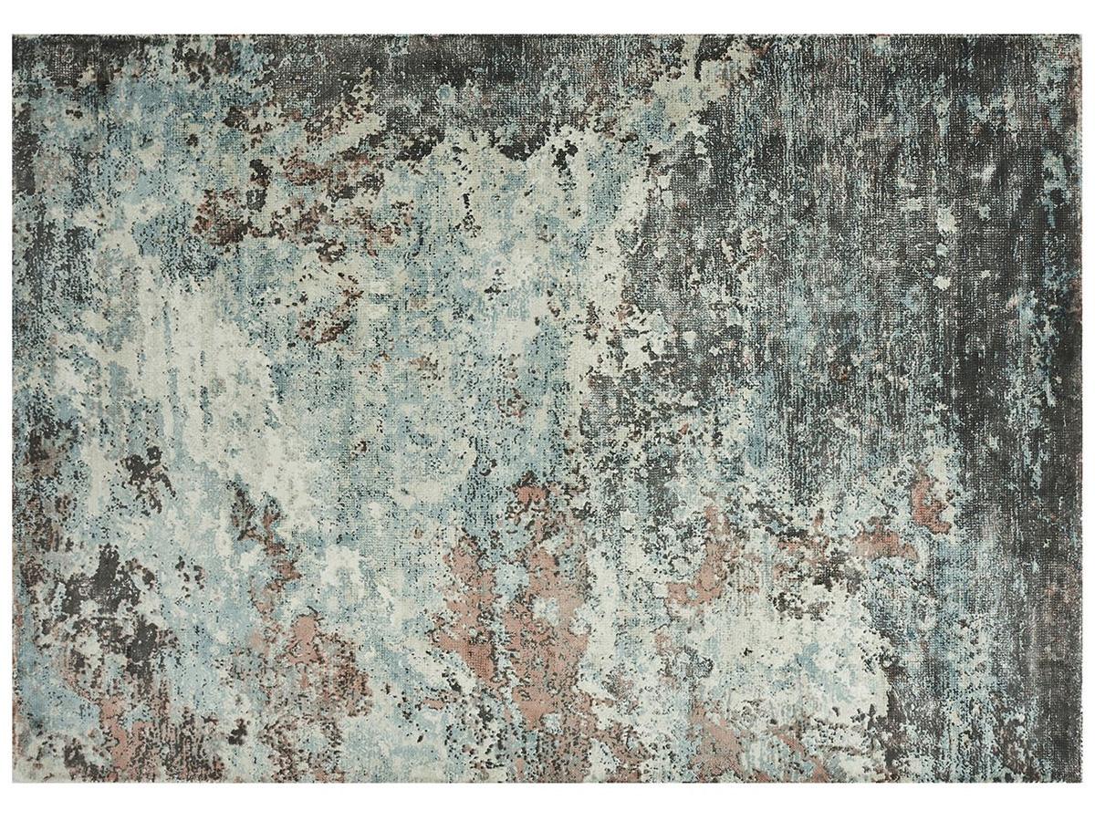 Dywan z wiskozy ręcznie tkany Sintra Teal Peach. Dywan pasuje do sypialni i salonu w stylu nowoczesnym i modern classic.