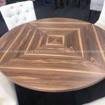 Stół okrągły rozkładany Vincente II 120-220 cm. Stół drewniany pasuje do jadalni w stylu nowoczesnym i loft. Stoły drewniane do kuchni Białystok.