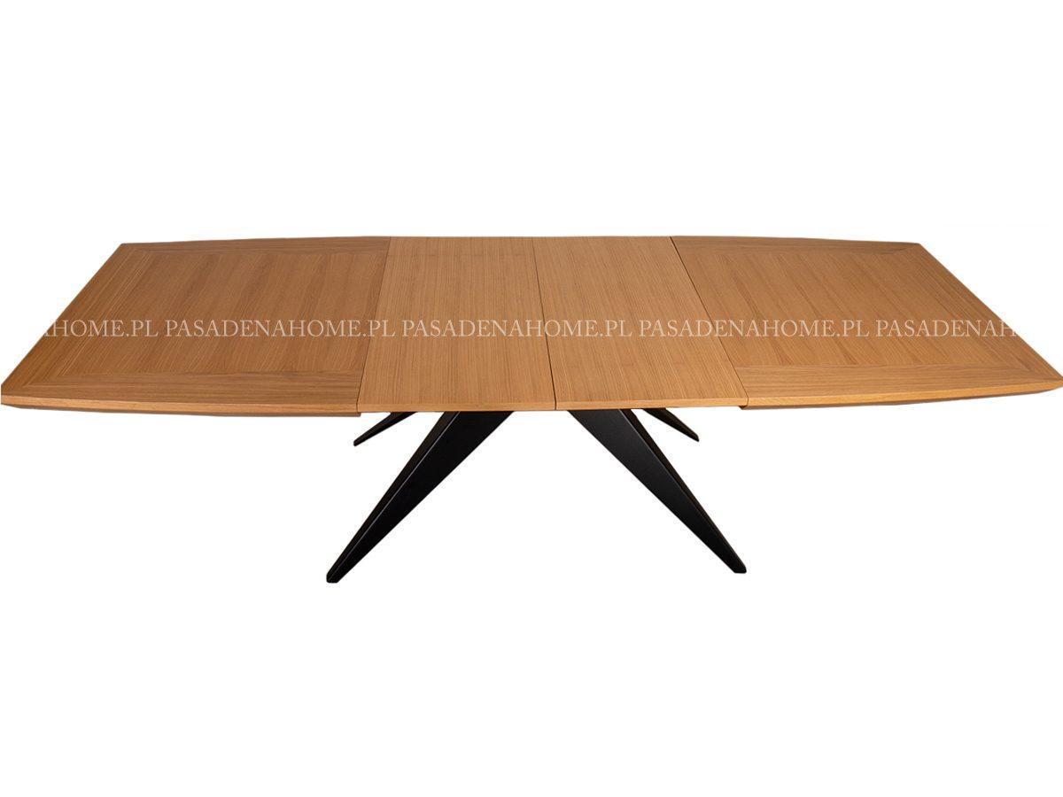 Duży stół rozkładany Scott. Stół z metalowymi nogami pasuje do jadalni w stylu nowoczesnym i loft. Stoły rozkładane do kuchni Białystok.