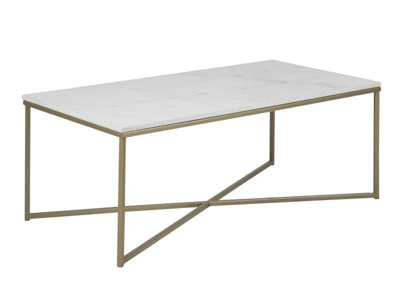 Prostokątny stolik kawowy Amelia wykonany z marmuru oraz metalu.Elegancki stolik do salonu w stylu nowojorskim oraz nowoczesnym.