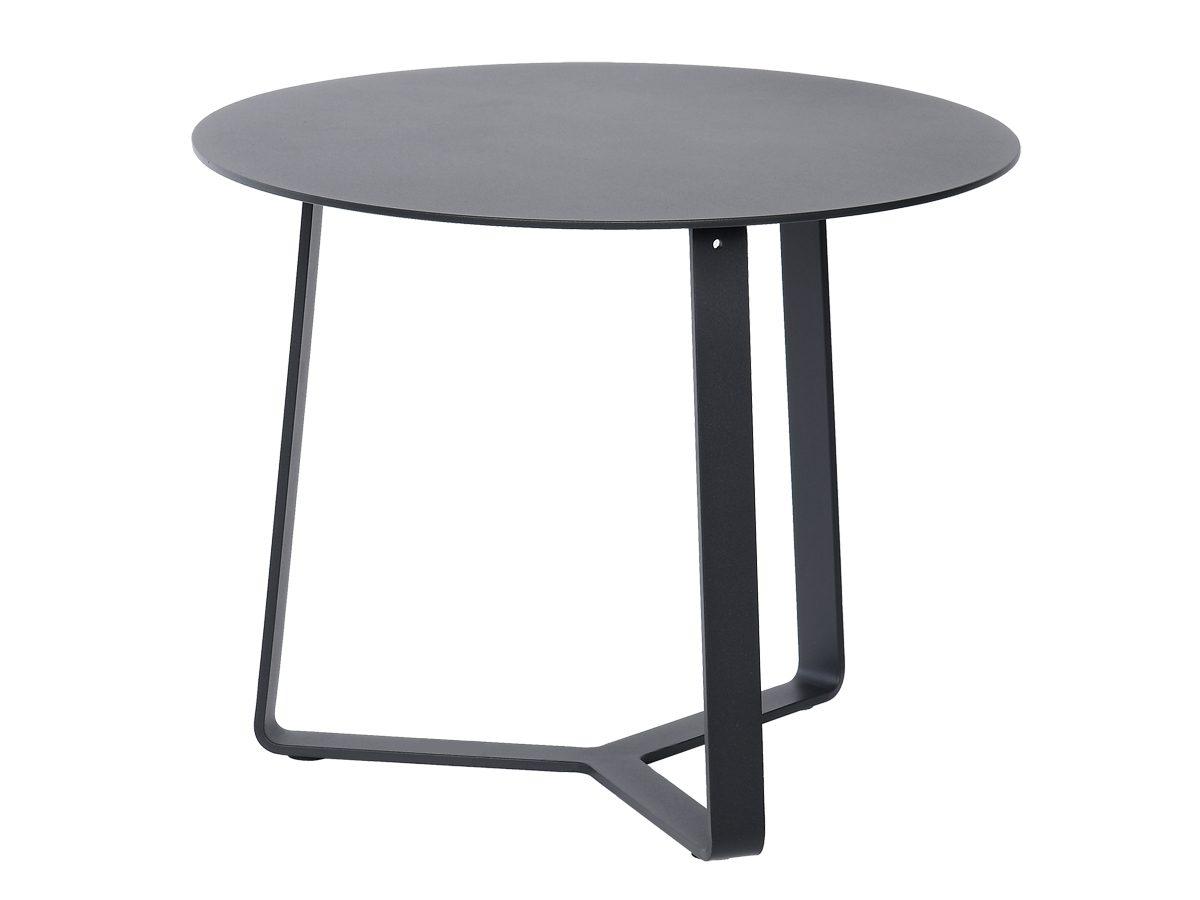 Stolik ogrodowy Nesca szary został wykonany z aluminium.Okrągły stolik do ogrodu i na taras jest dostępny w dwóch kolorach.