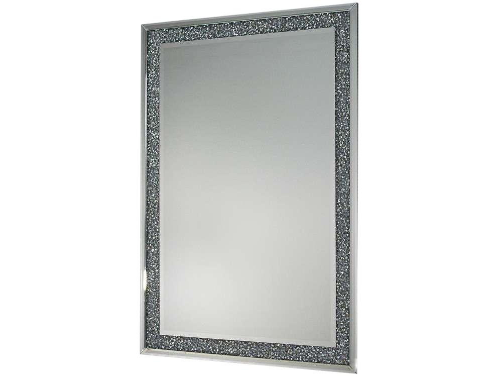 Lustro w lustrzanej ramie z kryształkami o wymiarach 80x120 cm Crystal II.Lustro pasuje do salonu w stylu nowoczesnym i glamour.