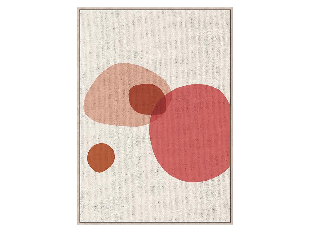 Obraz na płótnie z ramą typu american box o wymiarach 102x142 cm Pastelowa Abstrakcja. Obraz do salonu i sypialni w stylu nowoczesnym.