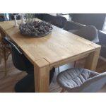 Stół dębowy rozkładany Travis. Stół prostokątny do nowoczesnej jadalni i kuchni. Do wyboru rozmiar 140x90 cm lub 160x90 cm.