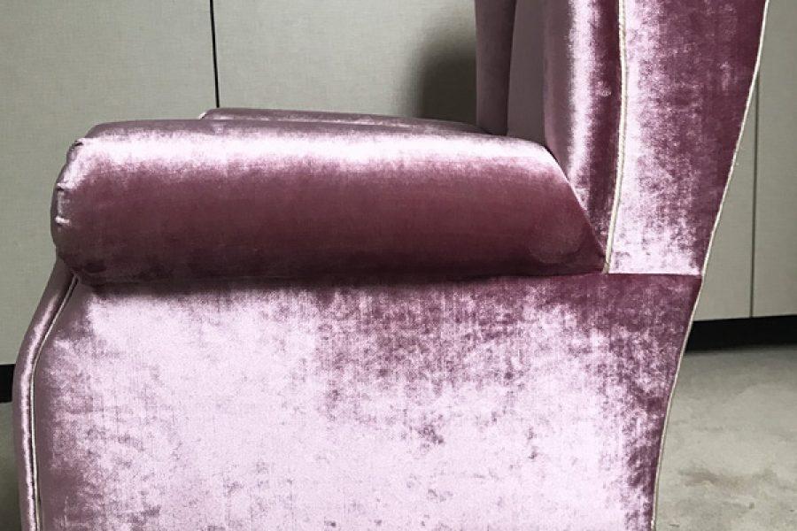 Renowacja fotela Uszak Mini