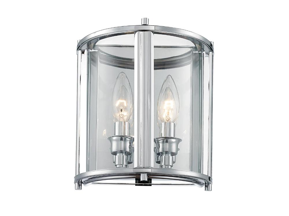 Kinkiet szklany w stylu nowojorskim Hampton pasuje do nowoczesnego salonu lub przedpokoju. Można go stosować także jako kinkiet łazienkowy nad lustro.