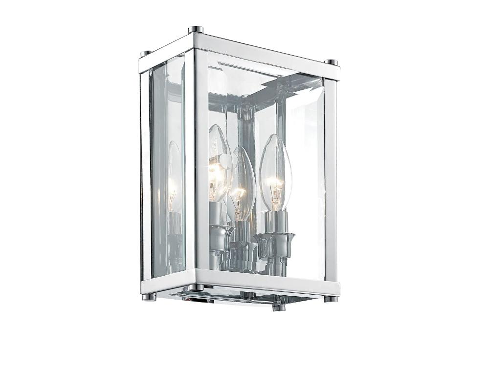 Kinkiet szklany w stylu nowojorskim Hampton 8 pasuje do nowoczesnego salonu lub przedpokoju. Można go stosować także jako kinkiet łazienkowy nad lustro.