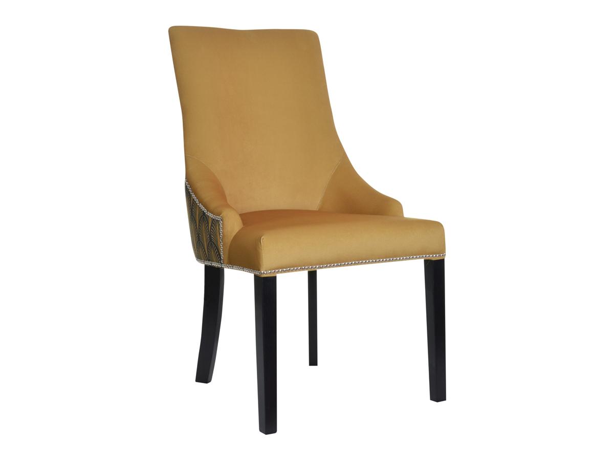Krzesło musztardowe Lady do wnętrz stylu nowoczesnym oraz modern classic. Krzesło tapicerowane z możliwością wyboru tkaniny.