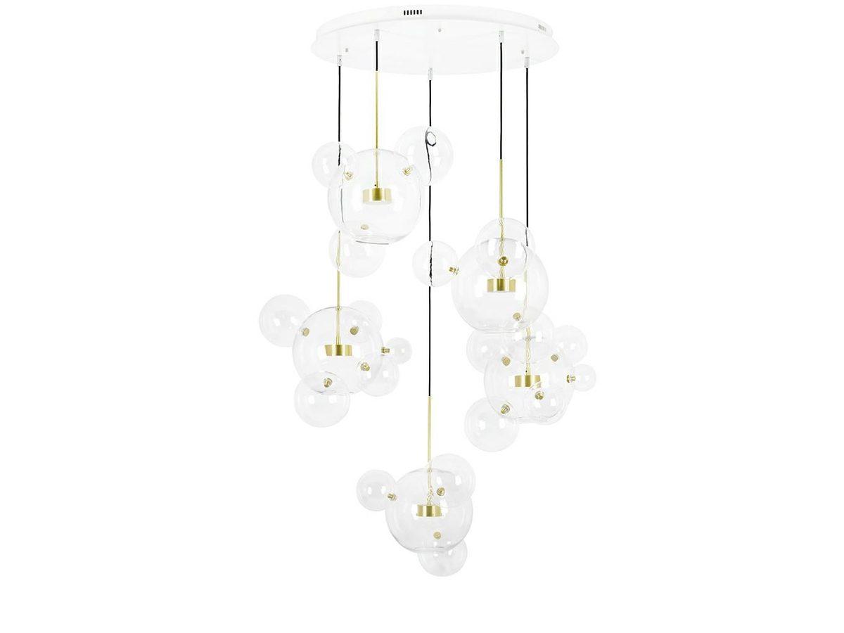 Lampa wisząca kule Bulle 5 inspirowana projektem Bubble Chandelier.Lampa sufitowa do salonu i jadalni w stylu nowoczesnym lub nowojorskim.