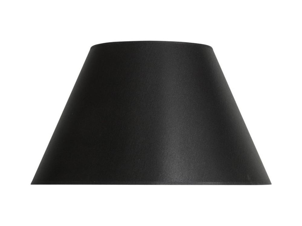 Przesłona czarny abażur do lampy stołowej.