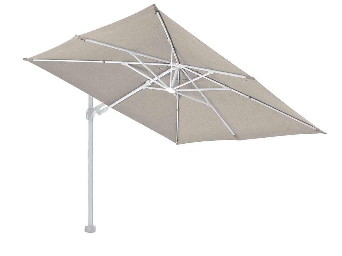 Parasol ogrodowy obrotowy Evita osadzony na solidnej, aluminiowej nodze.Parasol do ogrodu i na taras będzie idealnym uzupełnieniem letniej aranżacji.