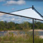 Altana ogrodowa Wave na solidnym, aluminiowym stelażu. Altana do ogrodu i na taras będzie doskonałym uzupełnieniem mebli ogrodowych.