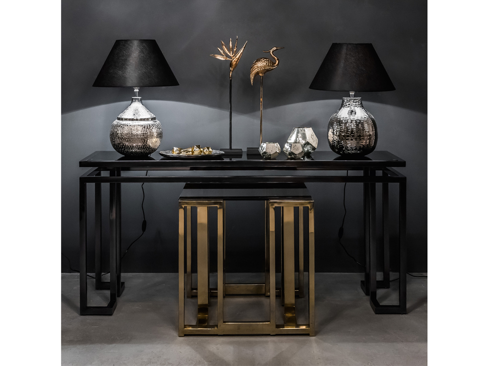 Lampy stołowe z kolekcji Deluxe w stylu nowojorskim.