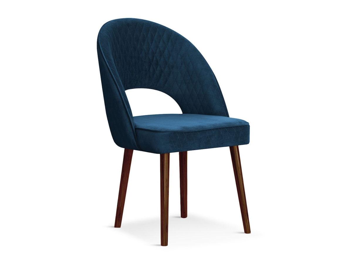 Nowoczesne krzesło tapicerowane Jasmine. Krzesło pikowane delikatnymi przeszyciami karo. Krzesło pasuje do salonu i jadalni w stylu nowoczesnym.