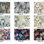 Tkanina obiciowa materiał na zasłony wzór w kwiaty Alice. Doskonała tkanina na meble, poduszki, narzuty oraz dekoracje. Materiał na zasłony Białystok.