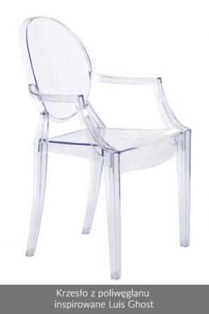 Krzesło z poliwęglanu inspirowane Luis Ghost