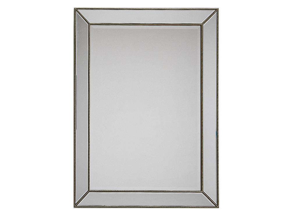 Lustro z lustrzaną ramą w stylu nowojorskim Ivo 91x123 cm.