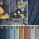 Tkanina obiciowa welur Arrov o szer. 140 cm. Tkanina obiciowa na meble i dekoracje; sprawdzi się również jako materiał na zasłony, poduszki, zagłówki.