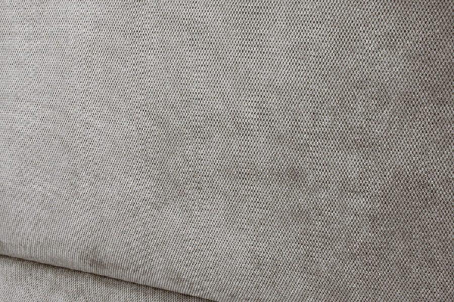 Panele tapicerowane w sypialni mieszkanie Białystok tkanina Italvelluti Favola