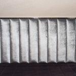 Panele tapicerowane z ramą ze stali nierdzewnej model 7 tkanina aksamit Onyx 801