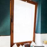 Plisy okienne na wymiar białe lekko transparentne