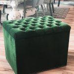 Pufa tapicerowana otwierana z pikowanym siedziskiem Baltimore 45x60 cm