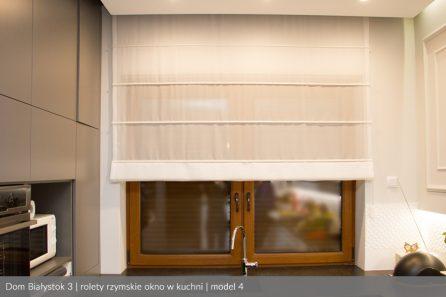 Usługa szycia i mechanizm Roleta rzymska model 4 okno w kuchni1