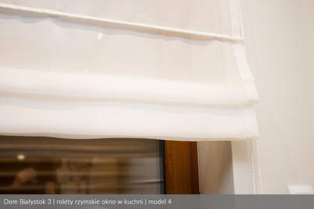 Usługa szycia i mechanizm Roleta rzymska model 4 okno w kuchni2
