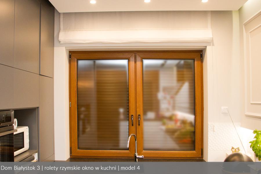 Usługa szycia i mechanizm Roleta rzymska model 4 okno w kuchni3