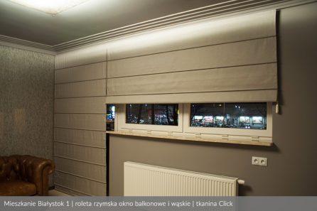 Usługa szycia i mechanizm Rolety rzymskie model 4 okno balkonowe i wąskie tkanina Click 1