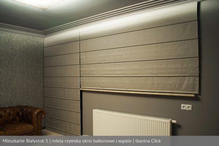 Usługa szycia i mechanizm Rolety rzymskie model 4 okno balkonowe i wąskie tkanina Click 2