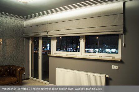 Usługa szycia i mechanizm Rolety rzymskie model 4 okno balkonowe i wąskie tkanina Click 3
