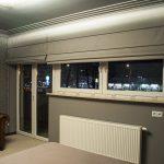 Rolety rzymskie drzwi balkonowe i okno