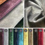 Tkanina obiciowa materiał na zasłony aksamit Glitter Velvet. Tkanina na meble, poduszki, dekoracje i panele tapicerowane.