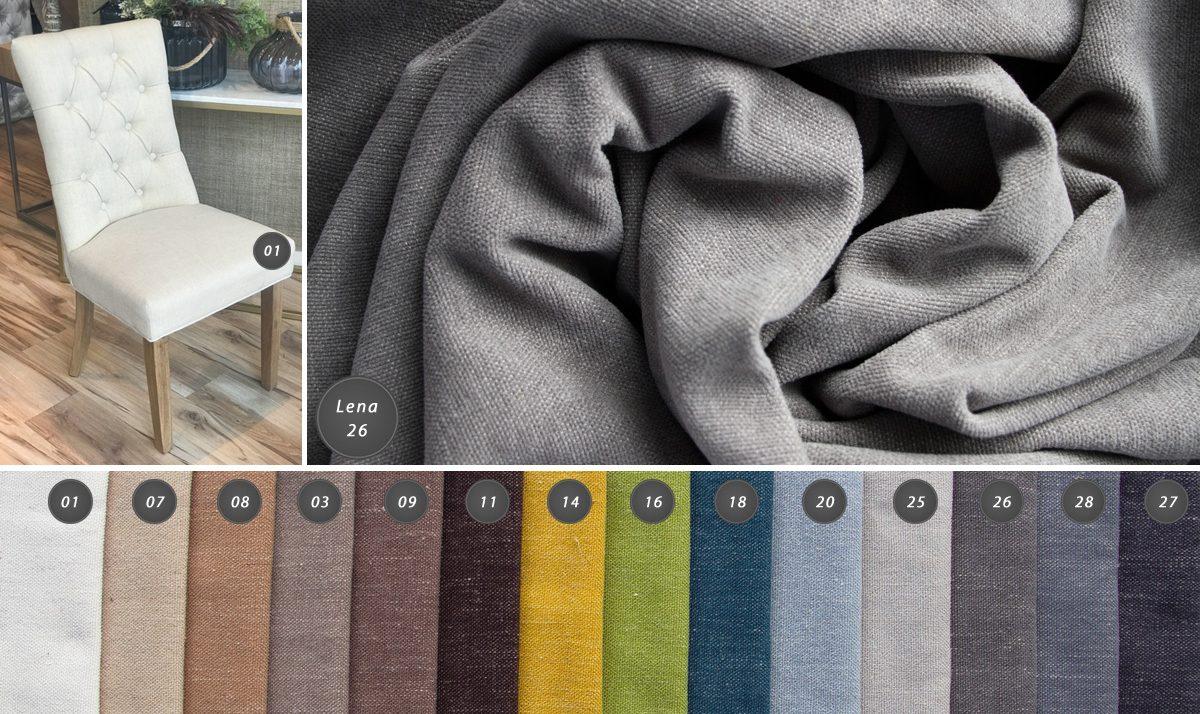Tkanina obiciowa 140cm Lena. Dwustronny materiał obiciowy na meblelub dekoracje, takie jak poduszki czy narzuty. Nadaje się także na zasłony.