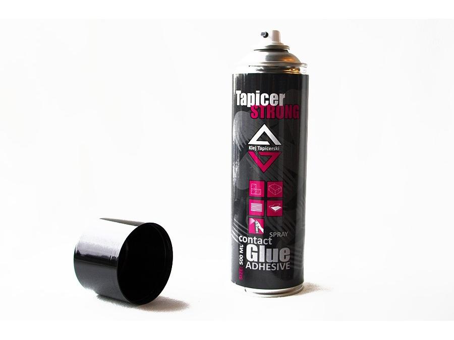 Klej tapicerski do tkanin Tapicer Glue STRONG spray aerozol podsufitka - 0,5l