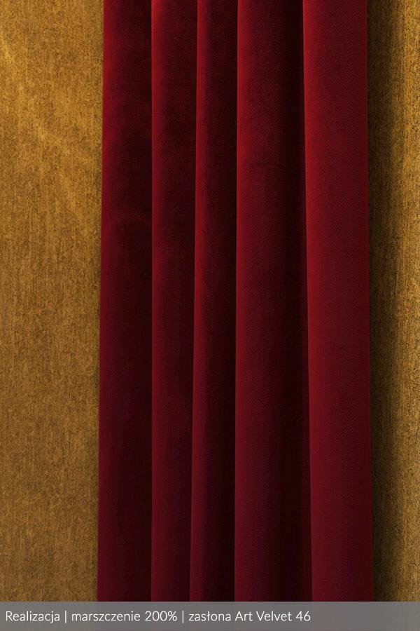 Taśma Wave marszczenie 1:2 200% zasłona welur Art Velvet kolor 46