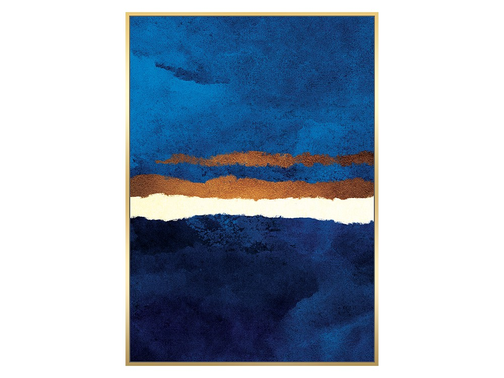 Obraz na płótnie z ramą typu american box o wymiarach 142x102 cm Abstrakcja. Obraz pasuje do salonu i sypialni w stylu nowoczesnym.