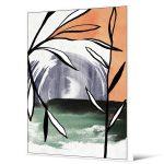 Obraz na płótnie z ramą typu american box o wymiarach 102x142 cm Liście. Obraz pasuje do salonu i sypialni w stylu nowoczesnym.