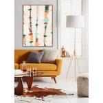 Obraz na płótnie z ramą typu american box o wymiarach 104x144 cm Abstrakcja. Obraz pasuje do salonu i sypialni w stylu nowoczesnym.
