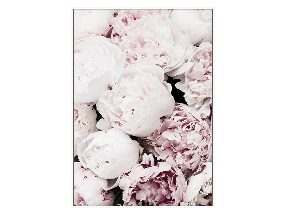 Obraz na płótnie z ramą typu american box o wymiarach 102x142 cm Pastelowe Róże.Obraz do salonu i sypialni w stylu nowoczesnym.