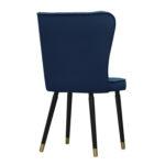 Krzesło nowoczesne Milo na drewnianych nogach. Nowoczesne krzesła tapicerowane są dostępne na zamówienie w showroomie Pasadena home & deco.